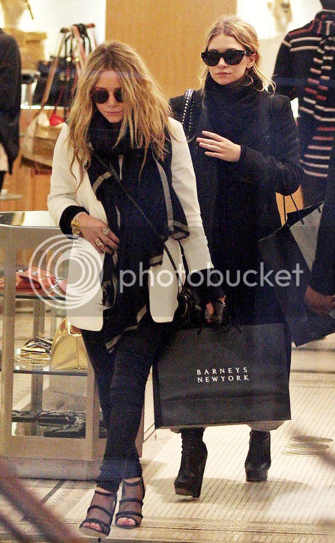 Olsens Anonymous Blog Fall Winter Style Cyber Monday Sale Mary Kate Ashley Olsen Twins Shopping Barneys Coats Sunglasses