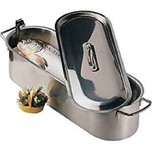 Fish Kettle All supplied with inset drainer plate. From Winware