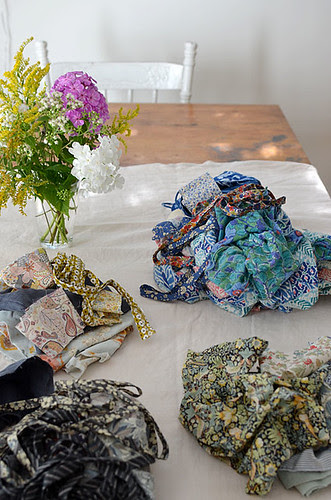 sweet little fabric piles