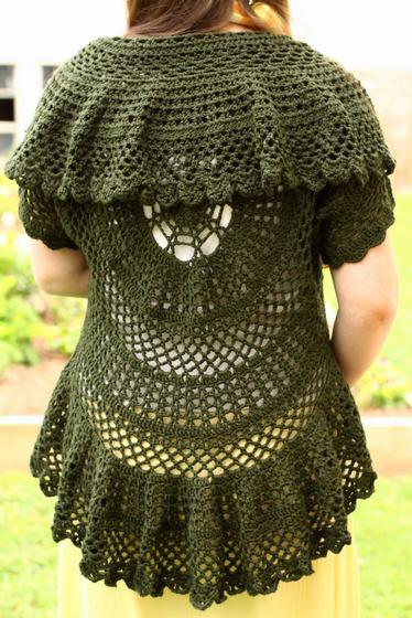 Swing-in-a-Circle Crochet Sweater Pattern