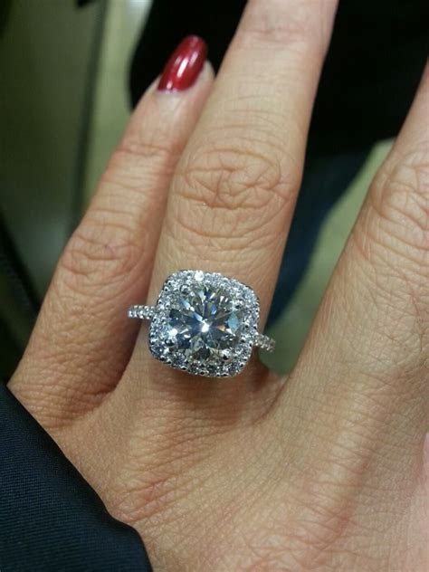 2 Carat Cushion Cut Engagement Ring   Carat Engagement