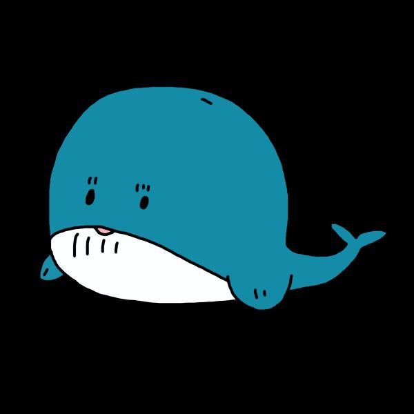 クジラのイラスト かわいいフリー素材が無料のイラストレイン