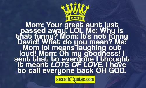 Funny Aunt Quotes Quotations Sayings 2019