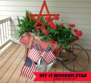 1 diy star 0021 300x274 $1 DIY Wooden Star