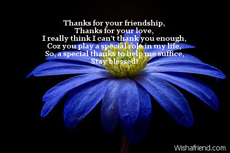 Thanks For Your Friendship Thanks For Thank You Message
