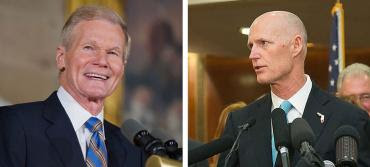 Bill Nelson and Rick Scott