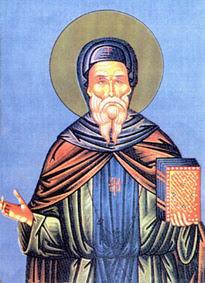 icone roumaine moderne de saint Jean Cassien