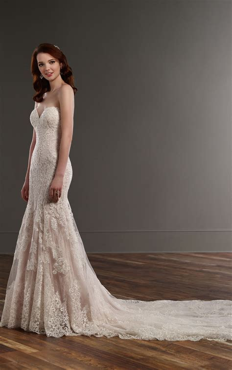 Strapless Fit and Flare Wedding Dress   Martina Liana