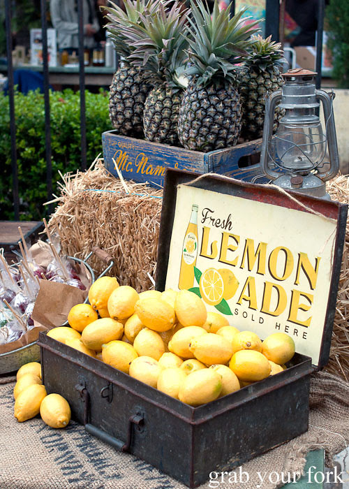 fresh lemonade at the grounds of alexandria markets