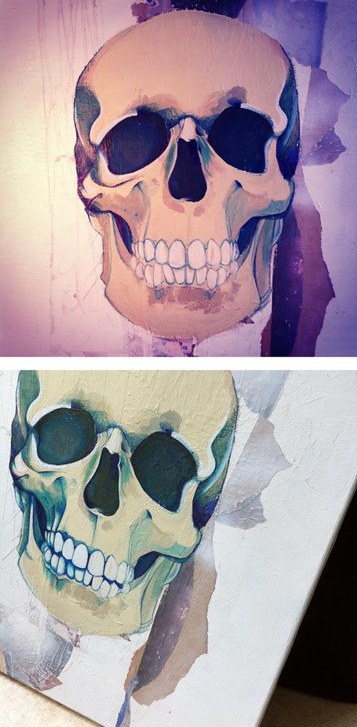 Crâne bleu #2 © Emilie Vasset
