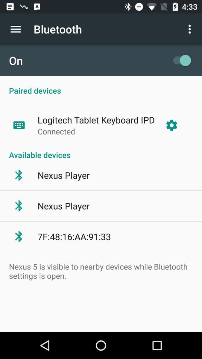 bluetooth menu android n rumeur