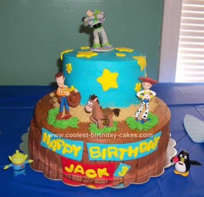 Story Birthday Cake On Coolest Toy Design 59