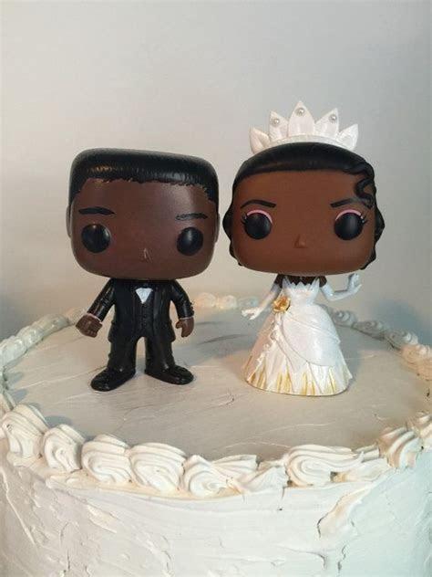 Tiana and groom Funko Pop Wedding Cake Topper Disney's The