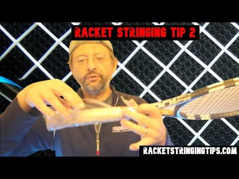 Racket Stringing Tip 2 - Stringing During Covid / clean grip hack  #tenn...