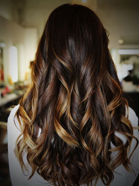 highlights  dark brown hair women hairstylo