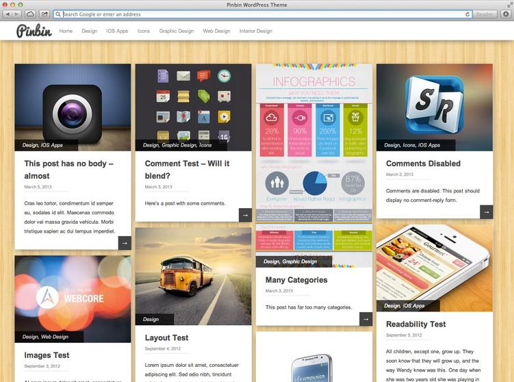 PinBin WordPress Teması İndir