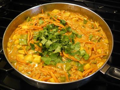 Shrimp Curry 4 - mango & cilantro