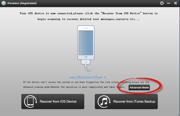 Use iFonebox To Copy And View Backup From Locked iPhone4