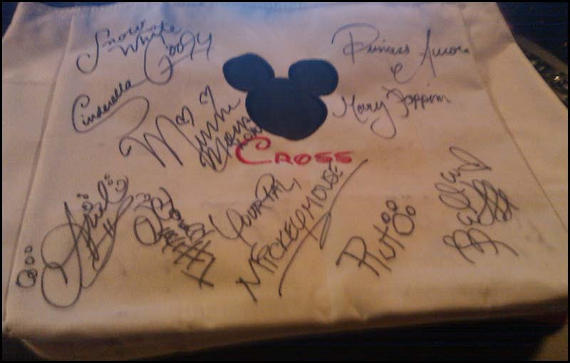 disney tote autographs