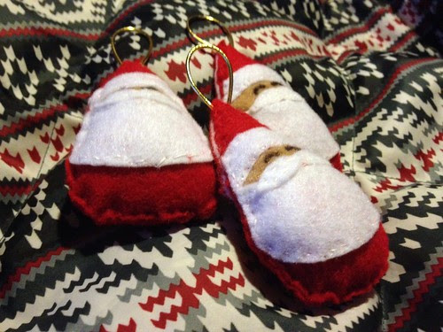 Santa ornaments