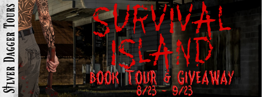 Book Tour Banner for horror thriller Survival Island by Matt Drabble with a Book Tour Giveaway
