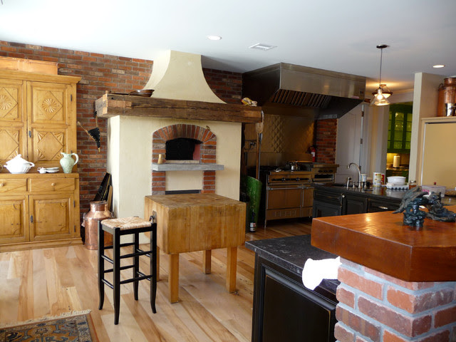 Indoor Wood Fired Pizza Ovens - Traditional - Kitchen ...