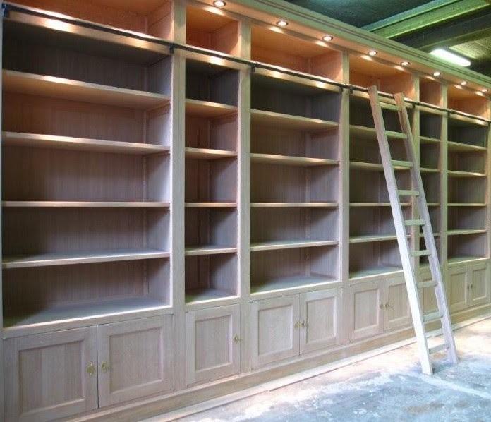 arredo su misura in legno biblioteca