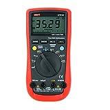 UNI-T UT61D 現代DMMデジタルマルチメータ レッド&グレー (データホールド機能/オートレンジング/LCDバックライト/True RMS 6000)