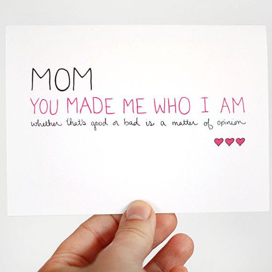Mothers Day Card Birthday Card for Mom You Made Me by JulieAnnArt