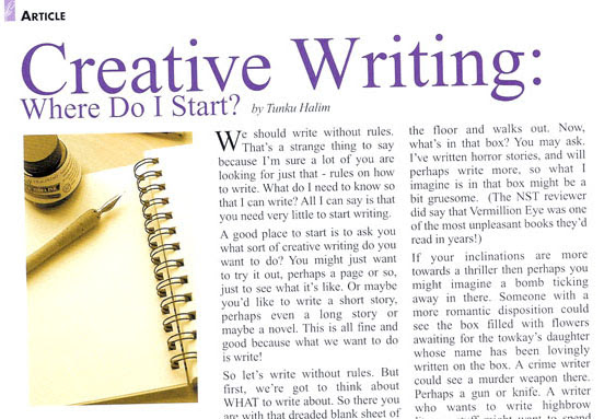creative writing meaning and purpose