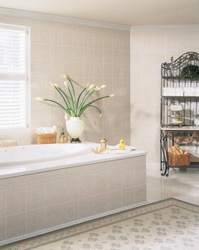 DPI AquaTile 4' x 8' Alicante Bath Tileboard Wall Panel at ...