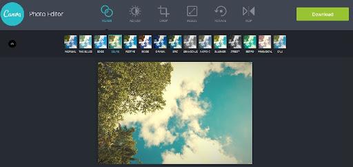 موقع Canva Photo Editor لإضافة التأثيرات والفلاتر على الصور