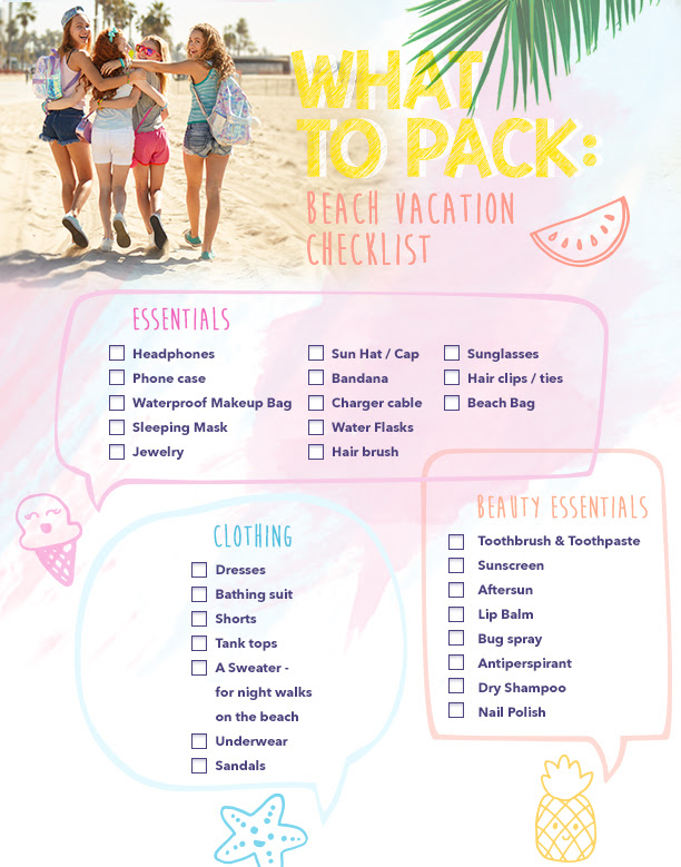 Beach Vacation Clothes Packing List Tour Holiday