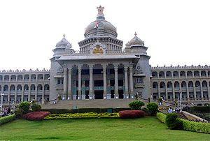 The Vidhana Soudha, the seat of Karnataka's le...
