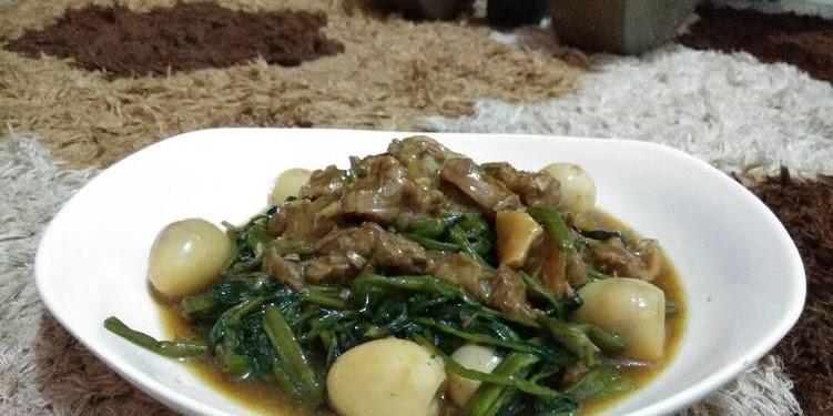 Resep Tumis Kangkung Sapi Telur Puyuh Oleh M.r.amalia