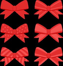 赤いリボン6種の無料ベクターイラスト素材 Picaboo ピカブー