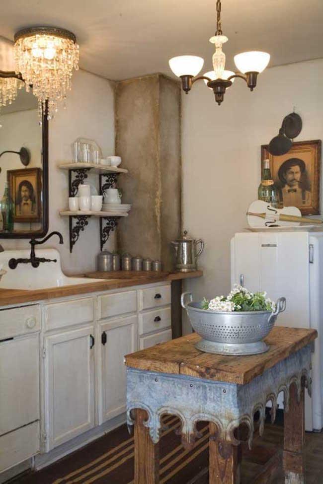 27 Vintage Wooden Kitchen Island Design Ideas | Interior God