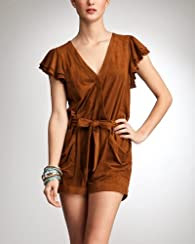 Microsuede Ruffle Romper - bebe Addiction
