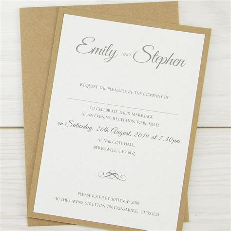 Rustic Glamour Evening Invitation   Pure Invitation