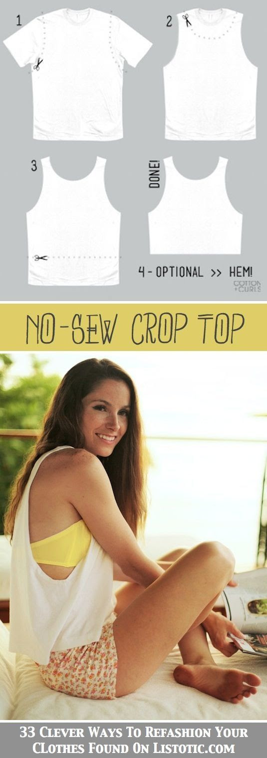 No Sew DIY Crop Top for Summer Style
