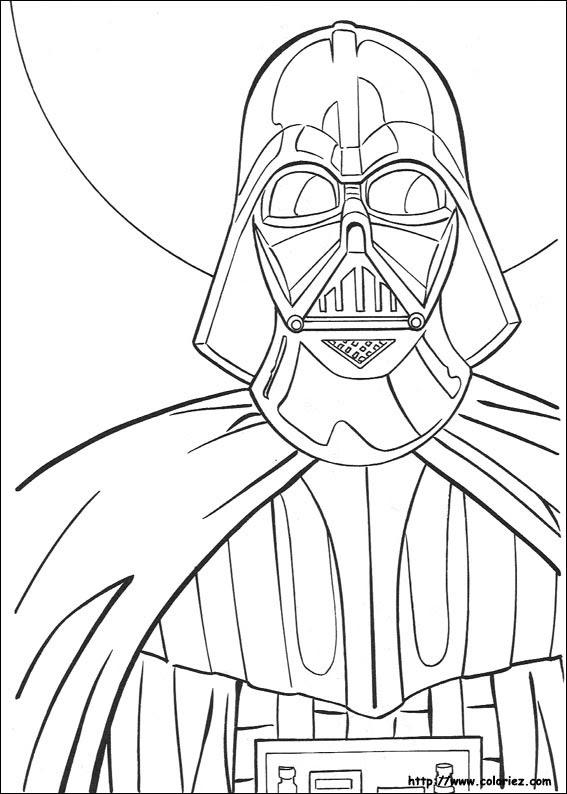 Coloriage Star Wars Dark Vador Coloriage