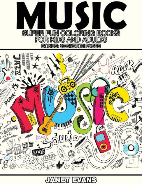 Music: Super Fun Coloring Books for Kids and Adults (Bonus ...