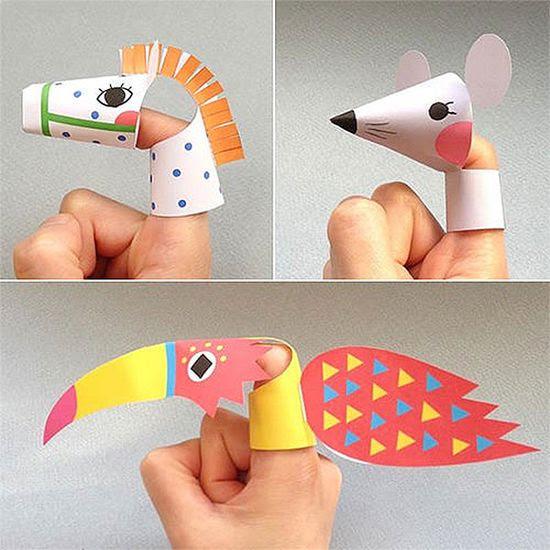 # DIY imprimir marionetas animales del dedo