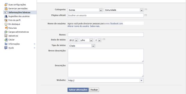 Como Editar As Informações Básicas De Uma Fanpage Do Facebook