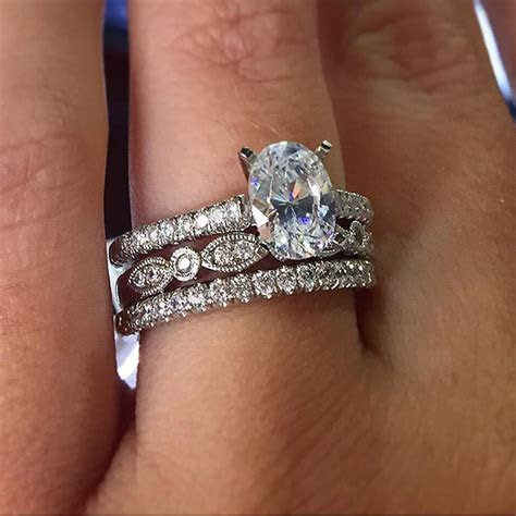 25  best ideas about Stacked wedding bands on Pinterest
