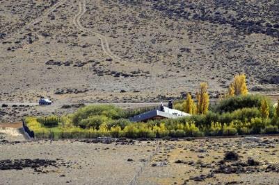 Estancia La Julia conectada a Cruz Aike. Foto Maxi Failla.