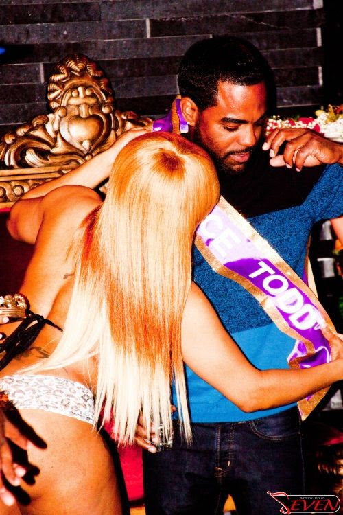 IT HIS TURN NOW: KANDI BURRUSS FINACE TODD TUCKER HAS BACHELOR PARTY WITH APOLLO NIDA, PETER THOMAS,  KIRK FROST & STRIPPERS