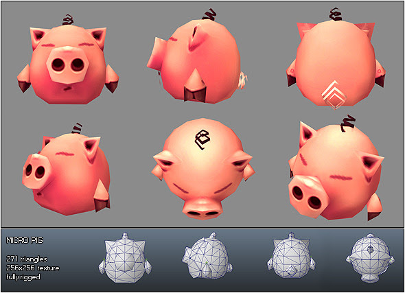 Micro Pig Melvin 3DOcean -  Animals 168741 torrent