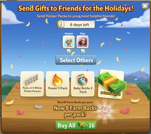 End of the Year Sale - FarmVille 2