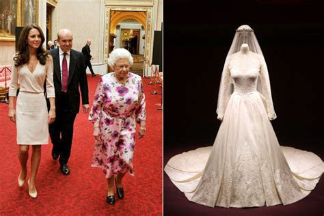 Kate Middleton's Wedding Dress Goes on Display, Queen